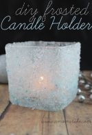 http://www.amomstake.com/2013/12/diy-frosted-candle-holder/