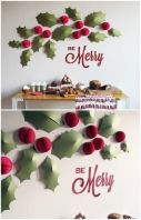 http://www.snowandgraham.com/blog/2012/11/how-to-holiday-holly-wall/