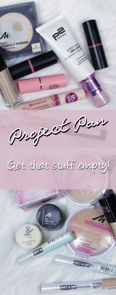 Project Pan #1 Get that stuff empty! We all really need to stop buying new products all the time and use the ones we already own to the last bit!