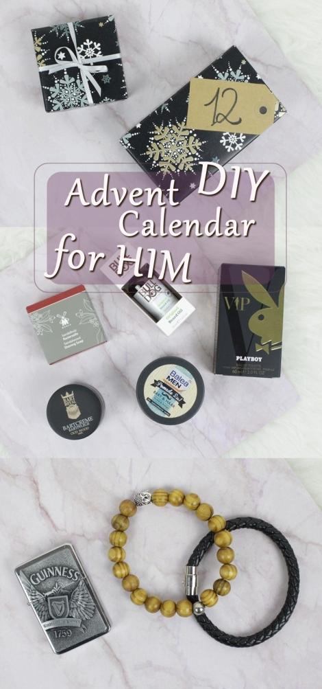 DIY advent calendar inspiration for HIM, a nice alternative to a traditional Christmas gift!